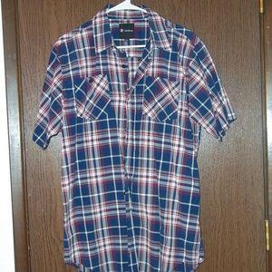 Akademiks short sleeve button shirt Men's size 2XL